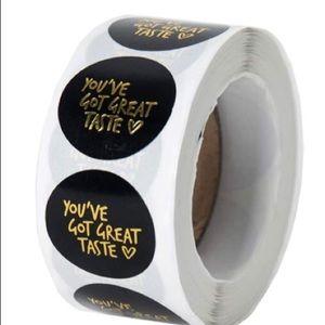 500 roll you've got great taste black stickers